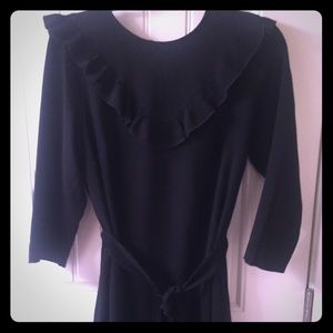 H&M Ruffle Dress Black Size 12